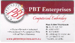 CLUB SPONSOR: PBT Enterprises